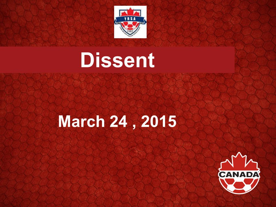Dissent March 24, 2015