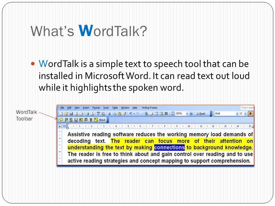 Word Talk
