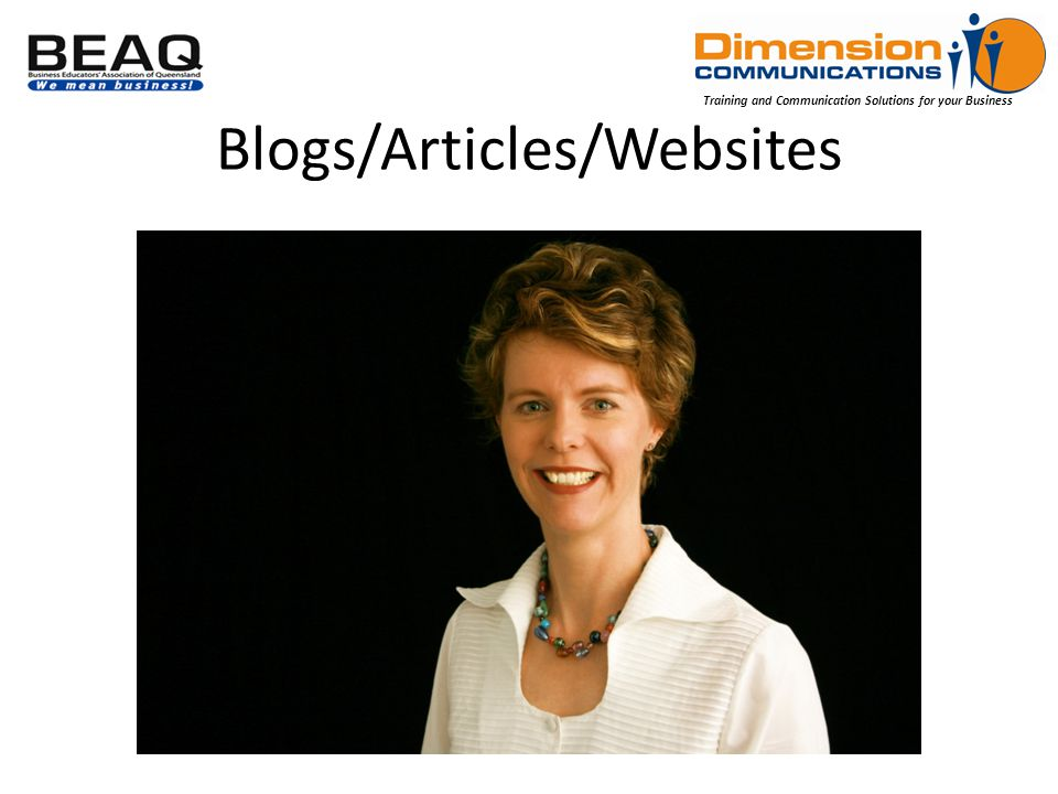 Training and Communication Solutions for your Business Blogs/Articles/Websites