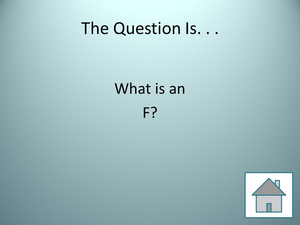 The Question Is... What is an F