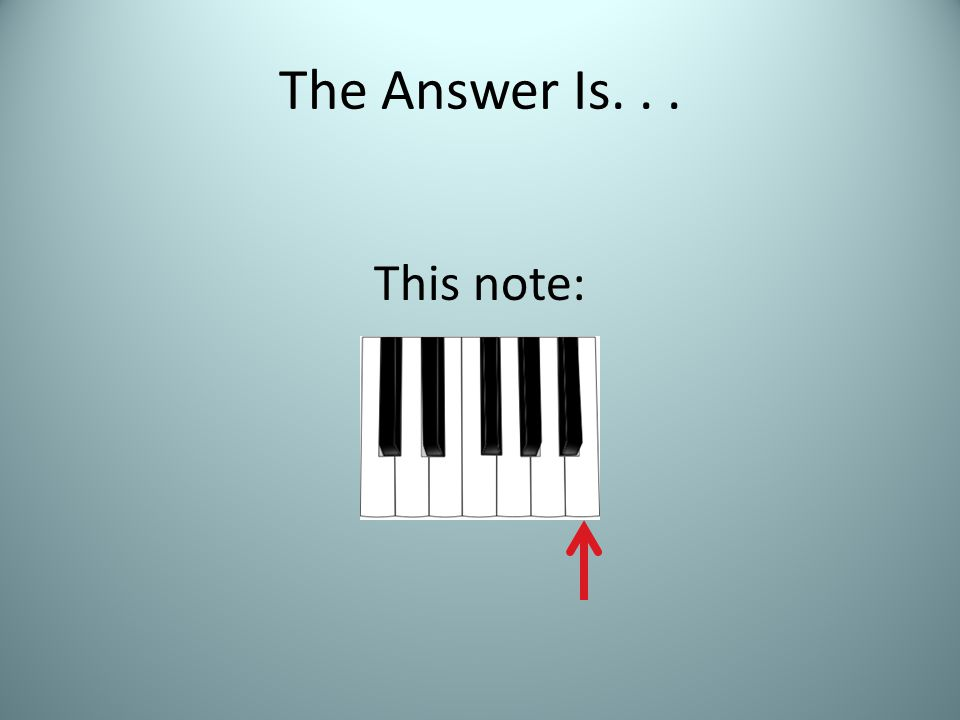 The Answer Is... This note:
