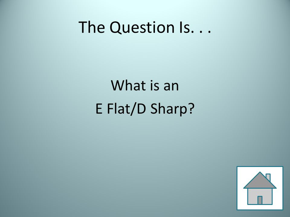 The Question Is... What is an E Flat/D Sharp
