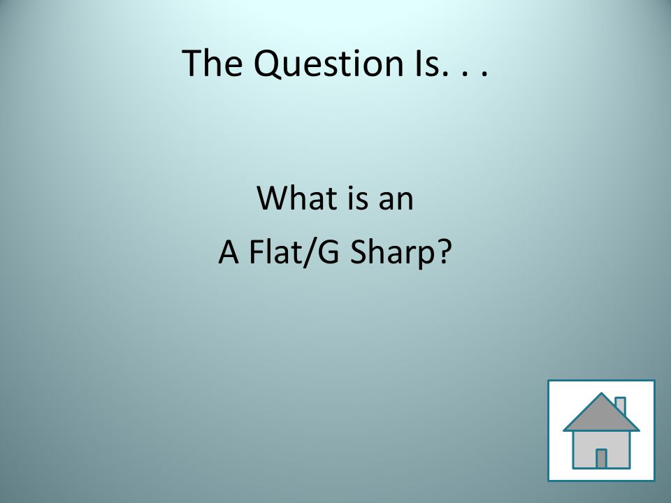 The Question Is... What is an A Flat/G Sharp