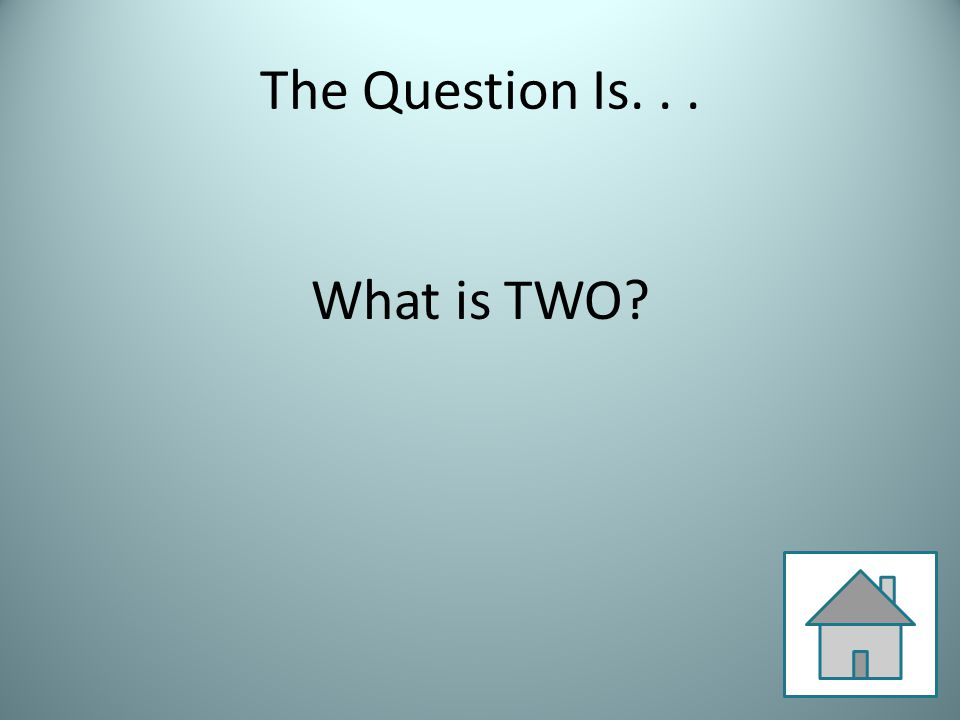 The Question Is... What is TWO?