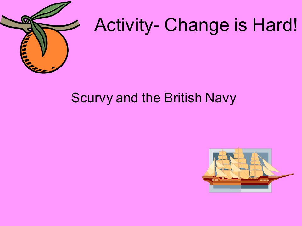 Activity- Change is Hard! Scurvy and the British Navy