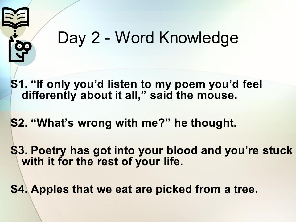Day 2 - Word Knowledge S1.