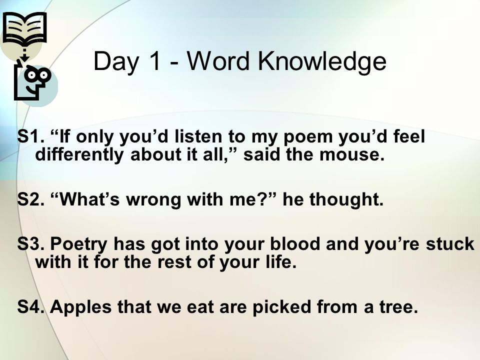 Day 1 - Word Knowledge S1.