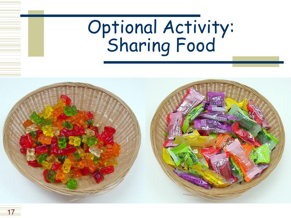 17 Optional Activity: Sharing Food
