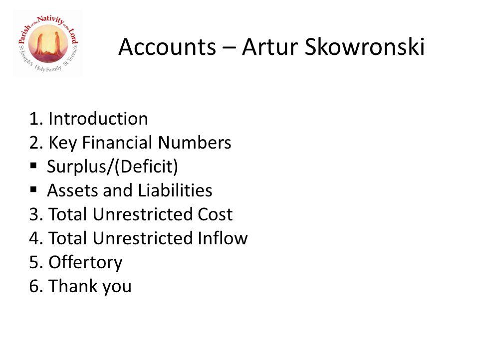 Accounts – Artur Skowronski 1. Introduction 2.
