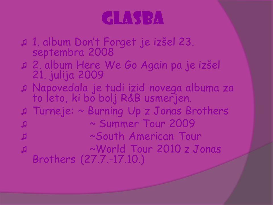 GLASBA ♫ 1. album Don't Forget je izšel 23. septembra 2008 ♫ 2. album Here We Go Again pa je izšel 21. julija 2009 ♫ Napovedala je tudi izid novega al