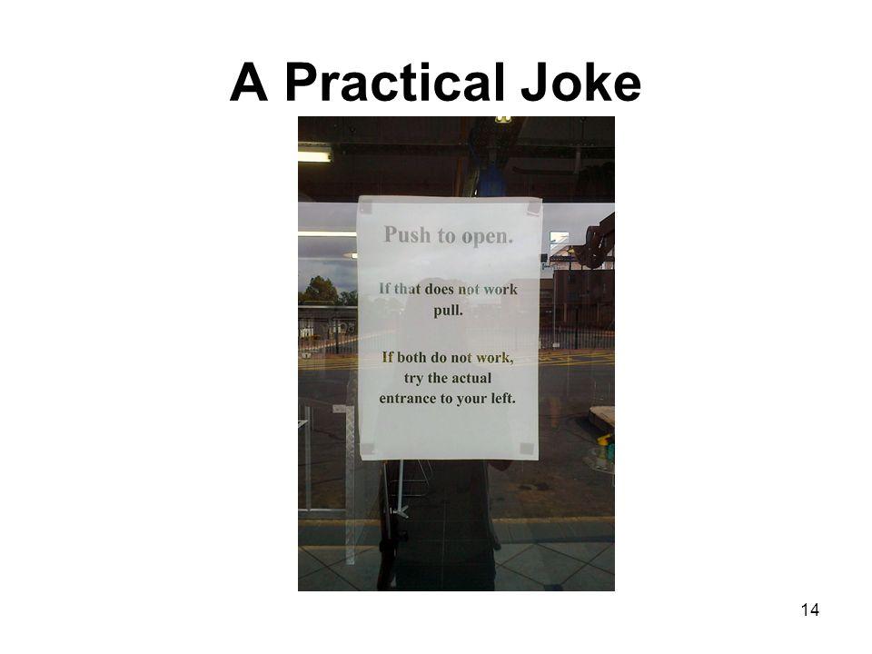A Practical Joke 14