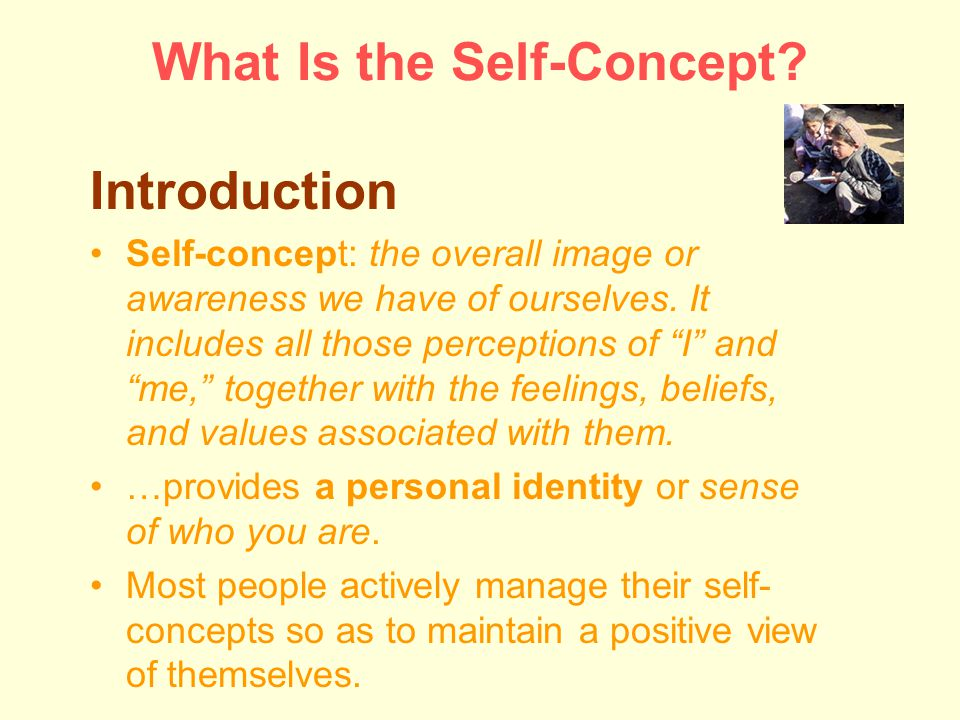 What Is the Self-Concept.