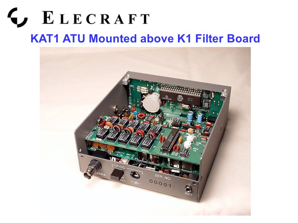 KAT1 ATU Mounted above K1 Filter Board