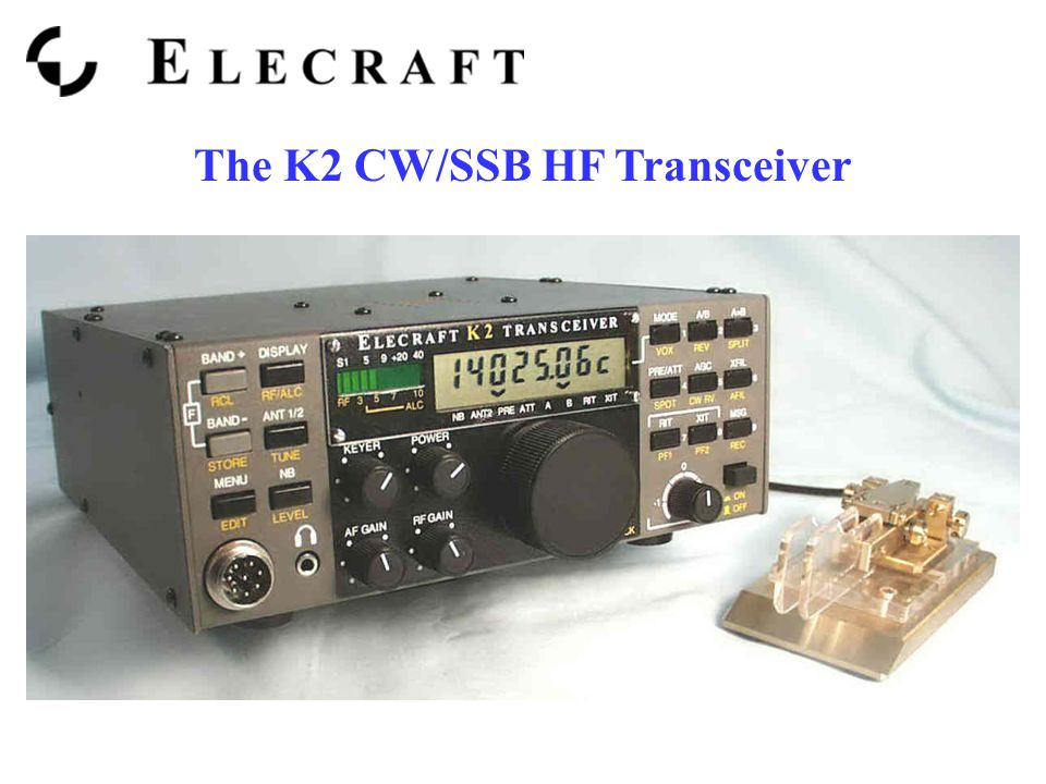 The K2 CW/SSB HF Transceiver