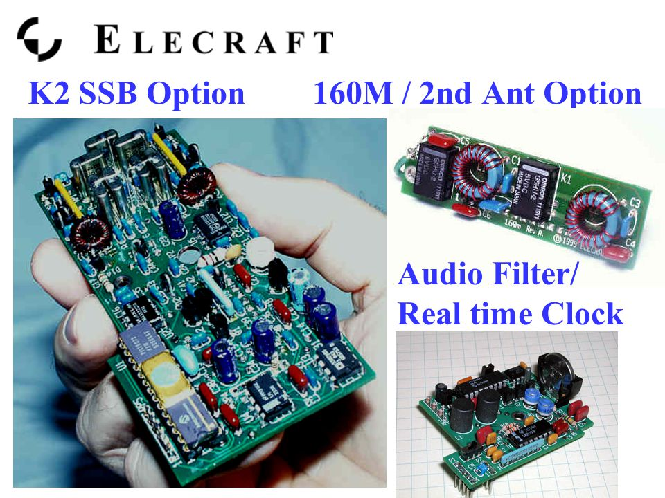 K2 SSB Option 160M / 2nd Ant Option Audio Filter/ Real time Clock