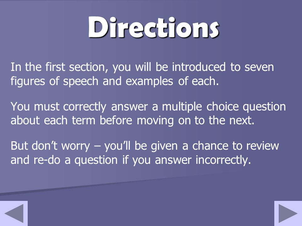 Objectives By the end of this tutorial, you should be able to: Recognize seven figures of speech Identify figures of speech in poems
