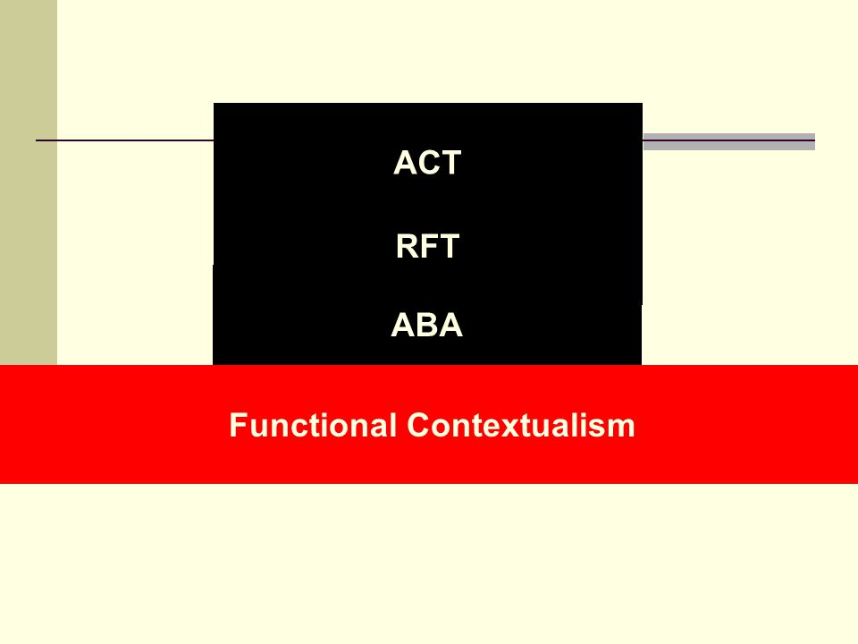 ACT RFT ABA Functional Contextualism
