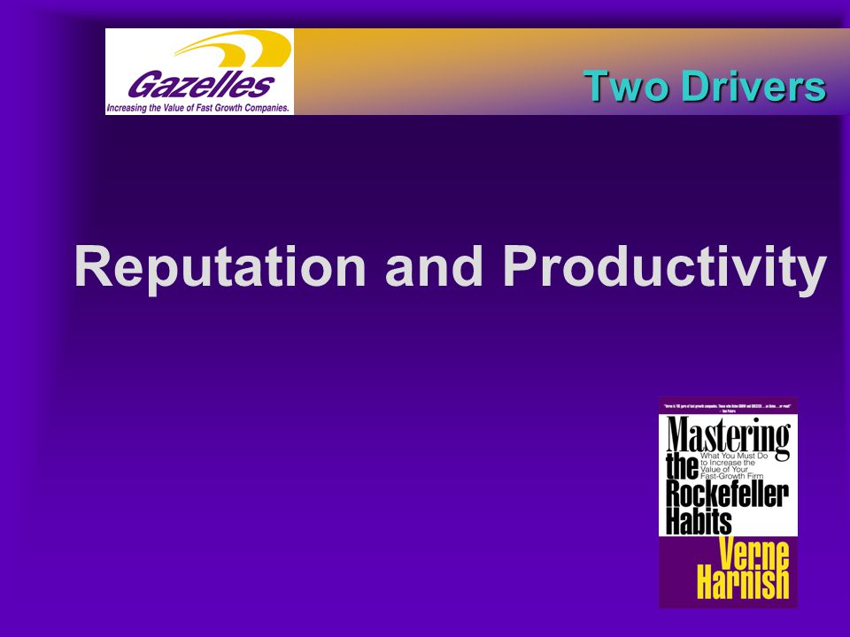 Two Drivers Two Drivers Reputation and Productivity