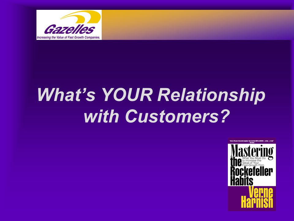 What's YOUR Relationship with Customers?