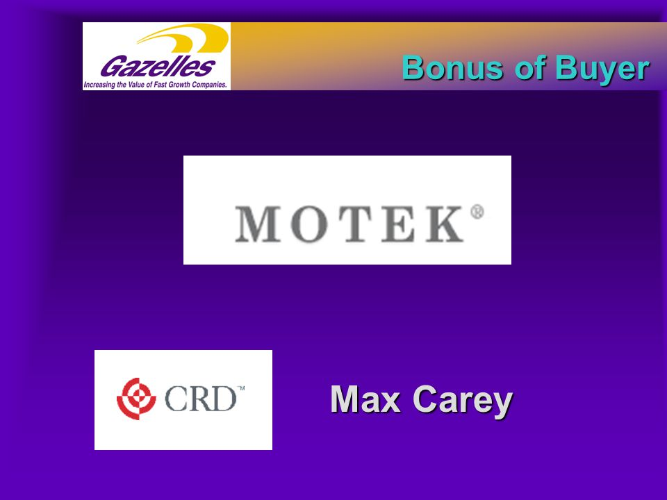 Max Carey Bonus of Buyer