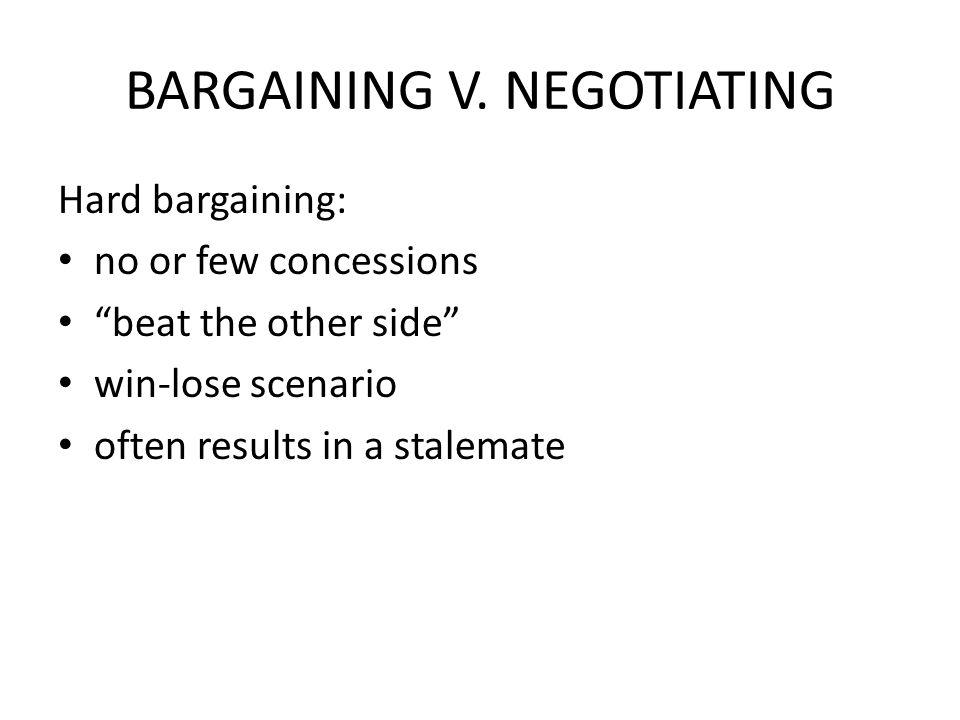 BARGAINING V.