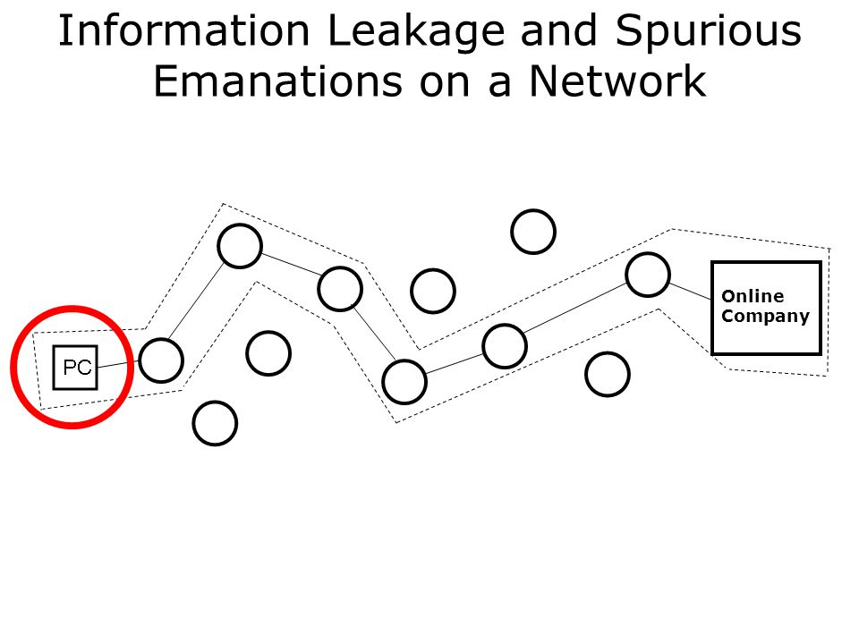 Information Leakage and Spurious Emanations on a Network Online Company