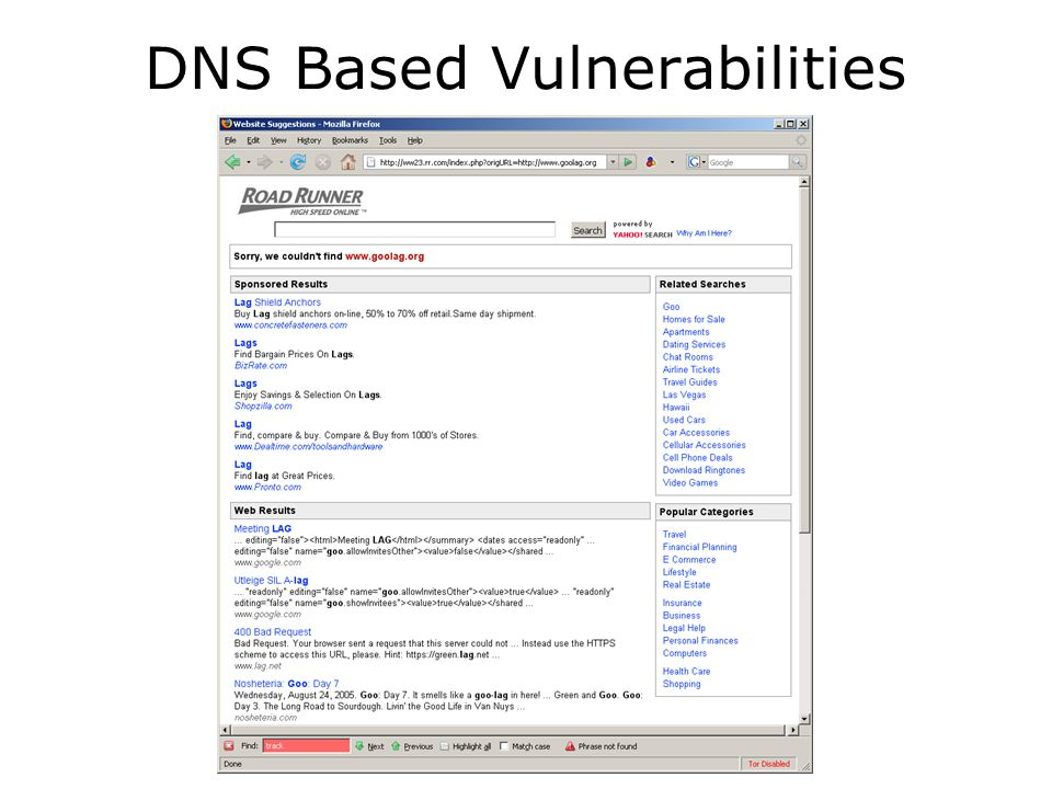 DNS Based Vulnerabilities