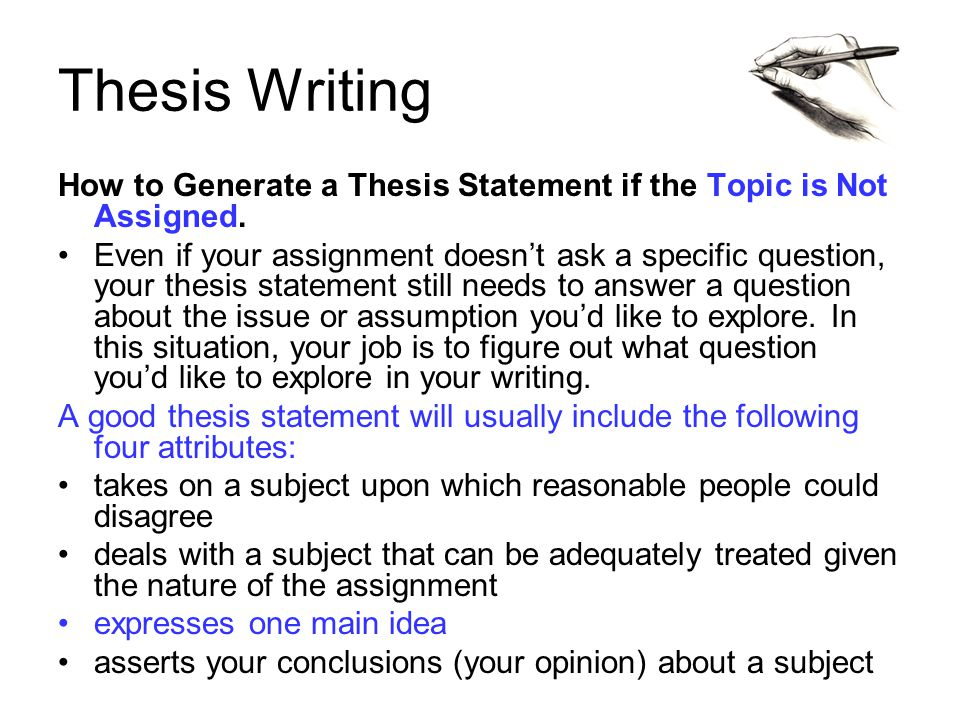 write a thesis satement