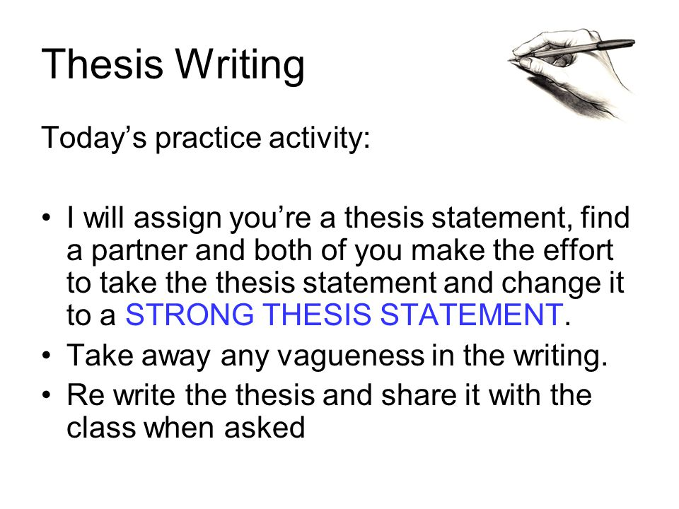 a feature of a strong thesis statement What you really want to know is how to create strong thesis statements for research papers well  typical features of a good thesis statement for a research paper.