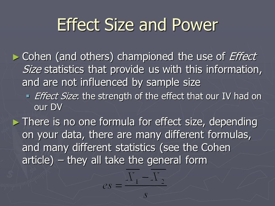 Effect Size and Power  Ex.