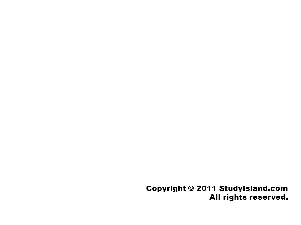 Copyright © 2011 StudyIsland.com All rights reserved.