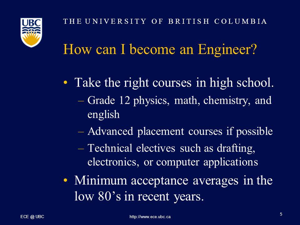 T H E U N I V E R S I T Y O F B R I T I S H C O L U M B I A ECE @ UBChttp://www.ece.ubc.ca 16 Research in ECE at UBC Power Engineering