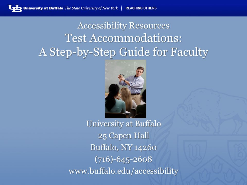 Welcome to the Testing Accommodations Guide for faculty and instructors.