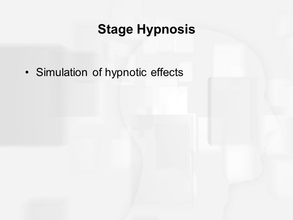 Stage Hypnosis Simulation of hypnotic effects