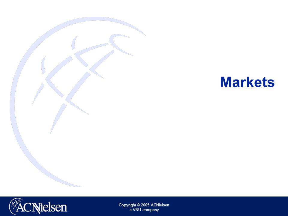 Copyright © 2005 ACNielsen a VNU company Markets