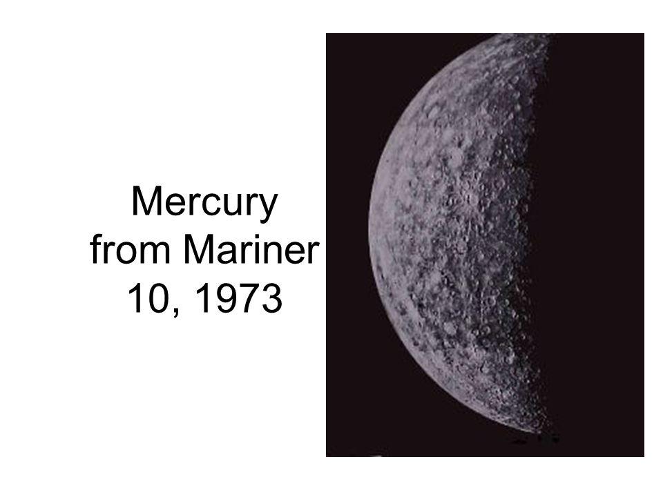 Mercury from Mariner 10, 1973