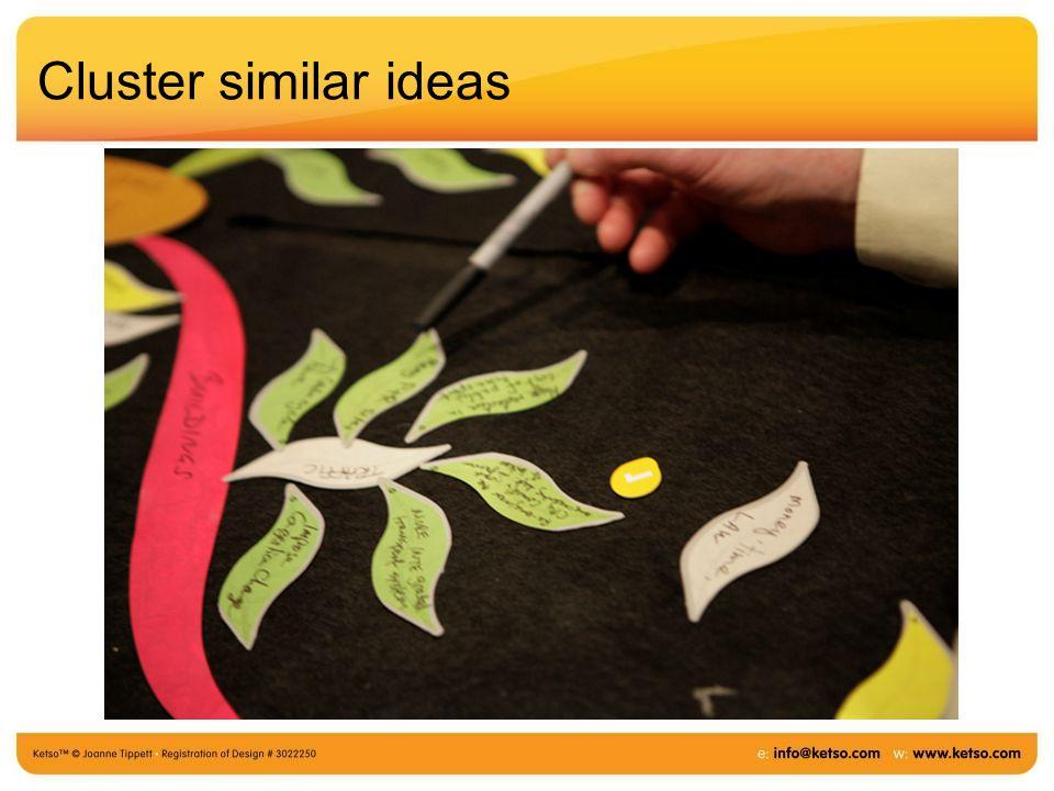 Cluster similar ideas