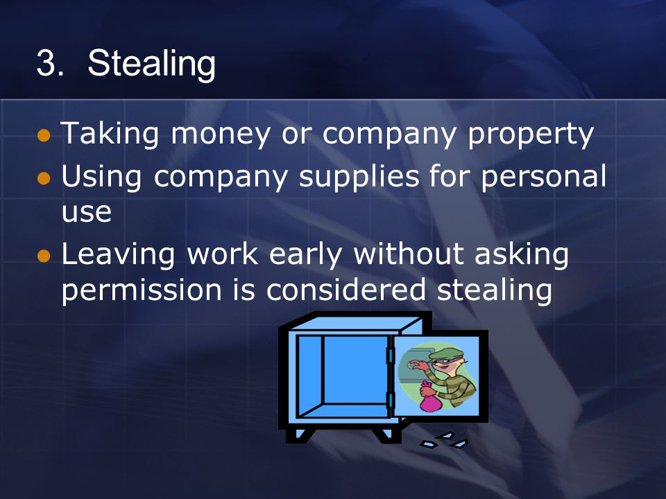 Avoiding Issues of Stealing: What can you do.