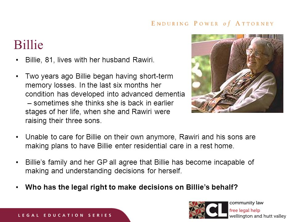 Billie Billie, 81, lives with her husband Rawiri.
