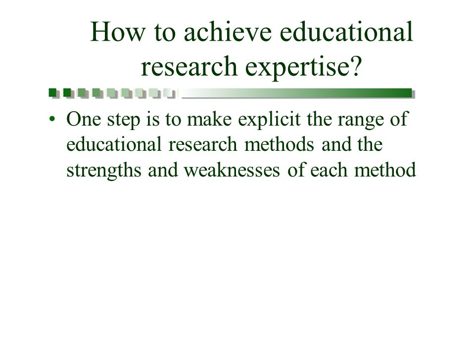 How to achieve educational research expertise.