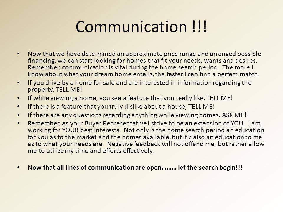 Communication !!.