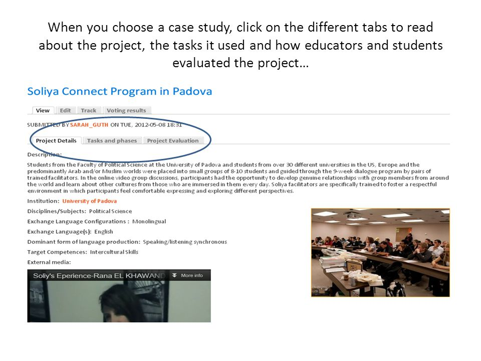 When you choose a case study, click on the different tabs to read about the project, the tasks it used and how educators and students evaluated the project…