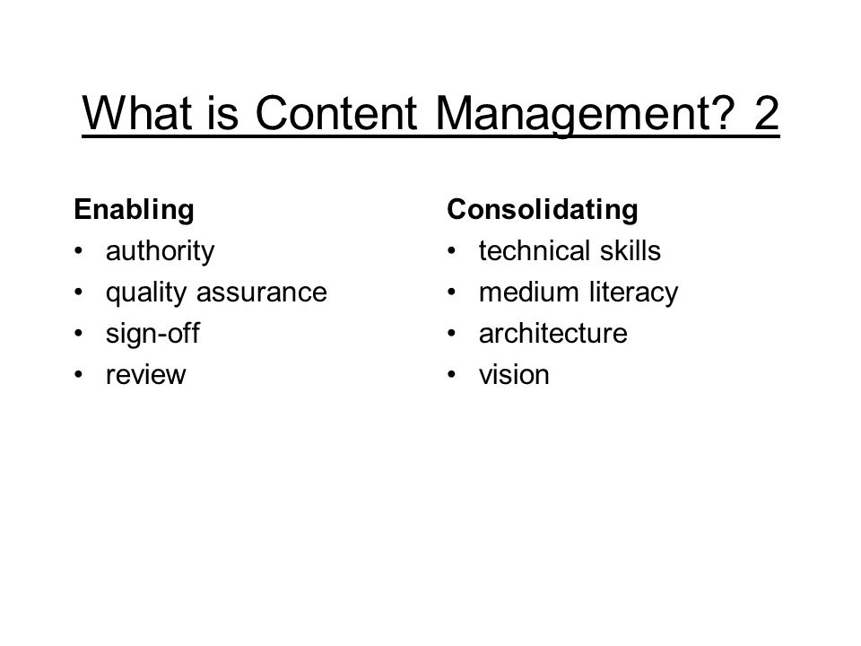 What is Content Management.