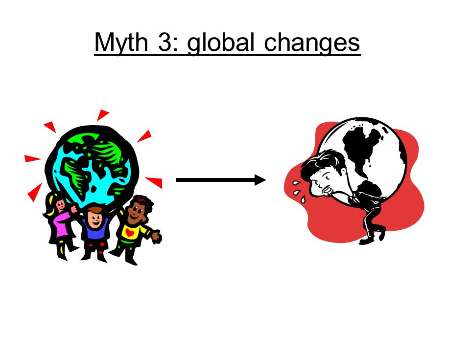 Myth 3: global changes