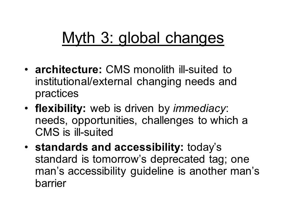 Myth 4: saving money CMS