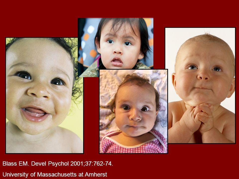 Blass EM. Devel Psychol 2001;37:762-74. University of Massachusetts at Amherst