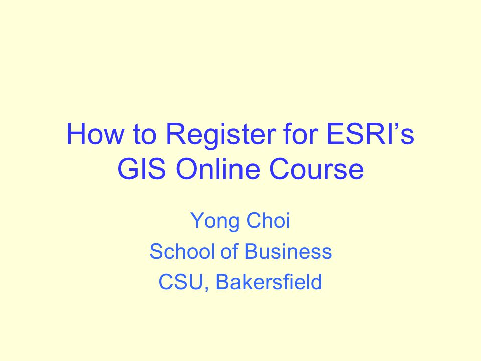 Summary 1.Go to http://training.esri.com and click My Training. Click My Virtual Campus Training. If you already have an Esri Global Account, log in using your username and password.