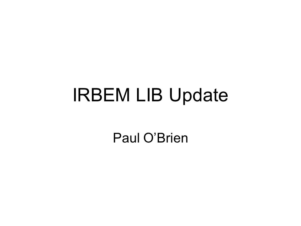 What is IRBEM.