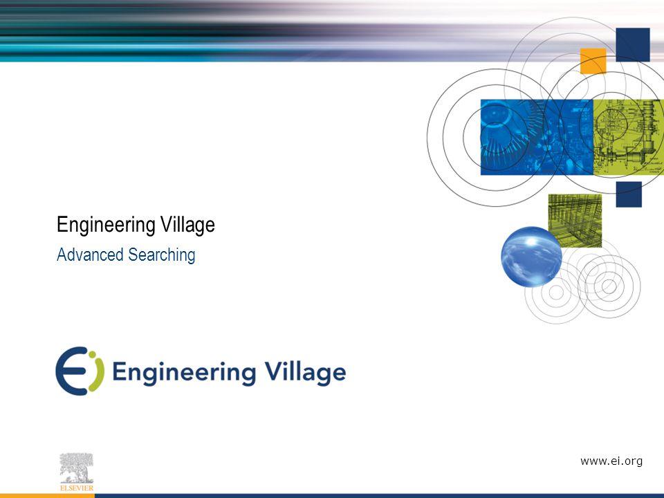 Agenda What is Engineering Village.
