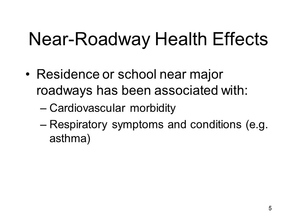 16 Stopping Point Millions of Americans live near major roadways Concentrations of criteria and hazardous air pollutants are elevated near roadways In urban areas, nearby traffic and other sources are major drivers of ambient concentrations of air pollution